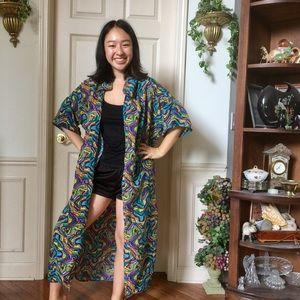 Trippy Rainbow Kimono Overthrow